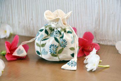 Handmade Blue Potli Bags
